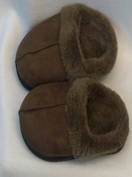 Diva Brown Faux Fur Lined Slippers