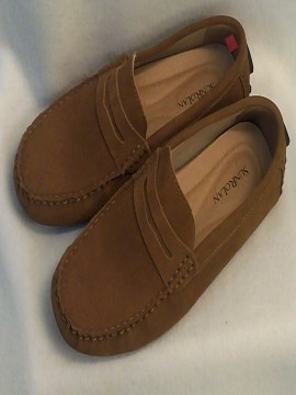 Sunrolan Tan Faux Suede Loafers