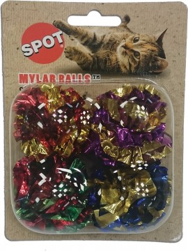 Ethical Pet Mylar Balls Cat Toy with Catnip, 1.5-in, 4 pack